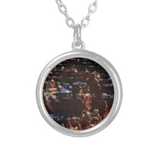 red rocks on the mountain glory silver plated necklace