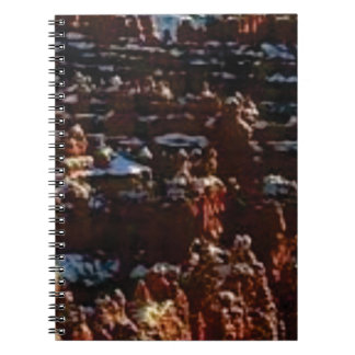 red rocks on the mountain glory spiral notebook