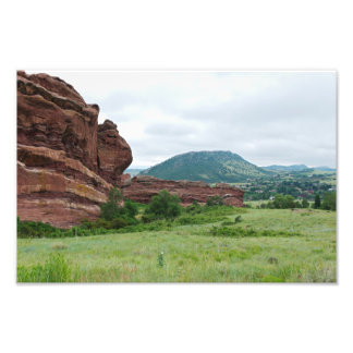 Red Rocks Park and Mountain Range Photo Print