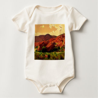 Red Rocks Park Denver Colorado Baby Bodysuit