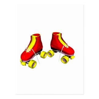 Red Roller Skates Postcard