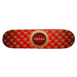 Red Roman Monogram Skate Board Decks