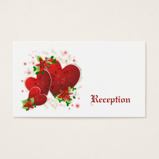 Red Romance Hearts Reception Cards