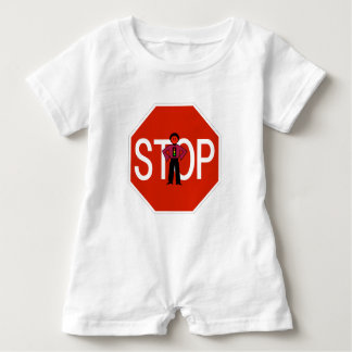 Red Ron Stop Sign Baby Romper