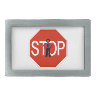 Red Ron Stop Sign Belt Buckle