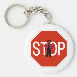 Red Ron Stop Sign Keychain