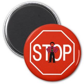 Red Ron Stop Sign Magnet