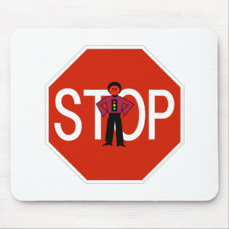 Red Ron Stop Sign Mouse Pad