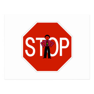 Red Ron Stop Sign Postcard
