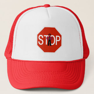 Red Ron Stop Sign Trucker Hat