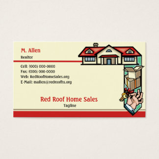 Red Roof Home Sales Business Card