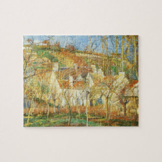 Red Roofs, Corner of a Village, Winter by Pissarro Jigsaw Puzzle