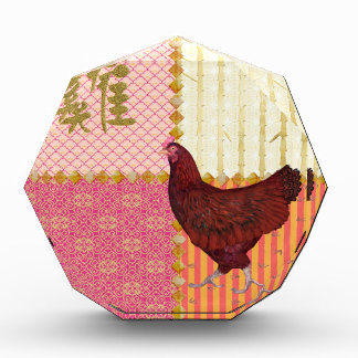 Red Rooster, Bamboo, Chicken Scratch, Ornamental,