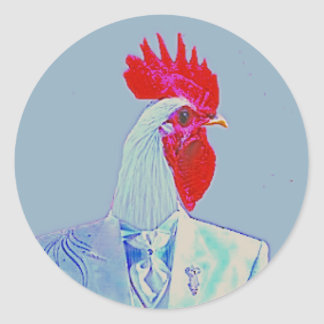 Red Rooster Classic Round Sticker