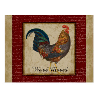 Red Rooster New Home Moved Postcard