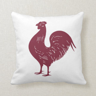 Red Rooster Throw Pillow