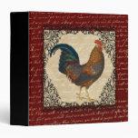 Red Rooster Vintage 3 Ring Binders
