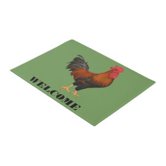 Red Rooster Welcome Mat