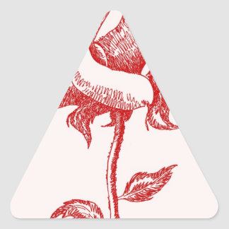 Red Rose 16.jpg Triangle Sticker