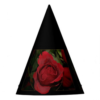 Red Rose #1 Party Hat
