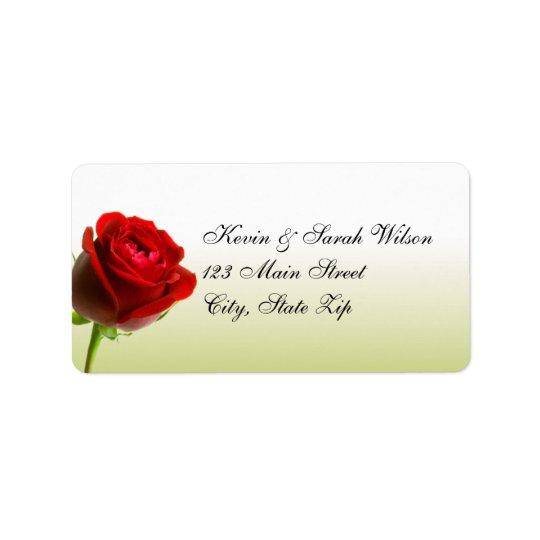Red Rose Address Labels