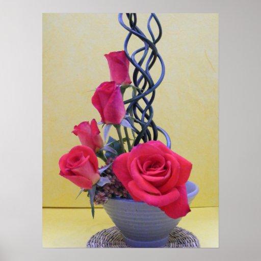 Red Rose Arrangement Poster