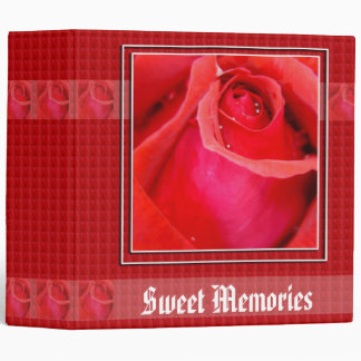 Red Rose Art Personalized Binder