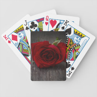 red rose background bicycle playing cards