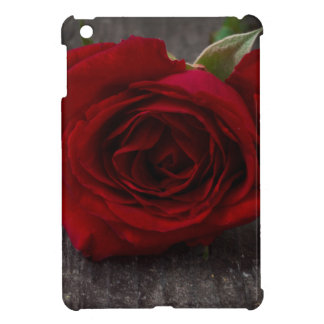 red rose background iPad mini case