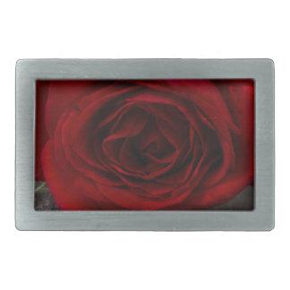 red rose background rectangular belt buckle
