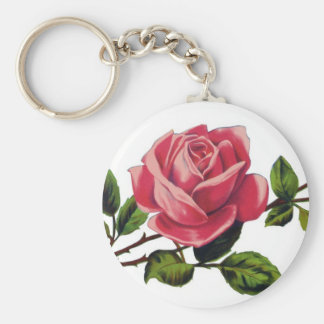Red Rose Basic Keychain
