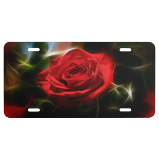Red Rose Beauty License Plate