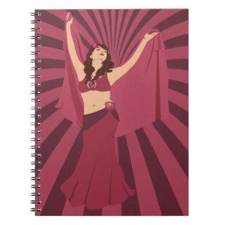 Red Rose Belly Dancer Notebooks