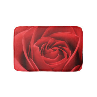 Red Rose Blossom Bath Mat