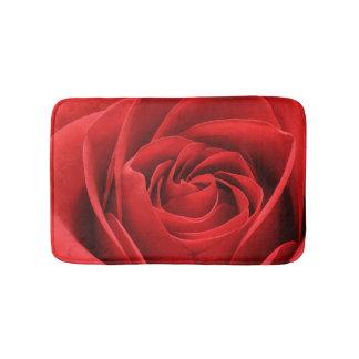 Red Rose Blossom Bathroom Mat