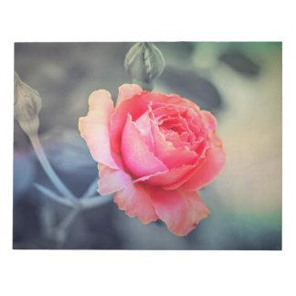 Red rose blossom notepad