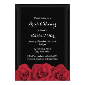 Red Rose Bridal Shower Invite