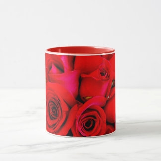 ~ Red Rose Buds Photograph ~ Mug