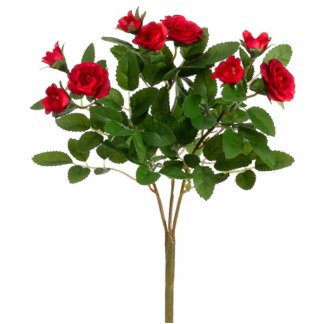 Red Rose Bush Standing Photo Sculpture