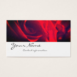 Red Rose Business Card Valentine