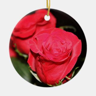 Red Rose Ceramic Ornament