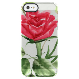 Red Rose Clear iPhone SE/5/5s Case