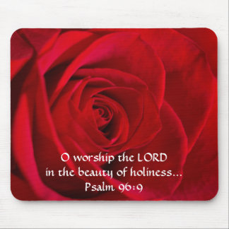 Red Rose Closeup Mouse Pad