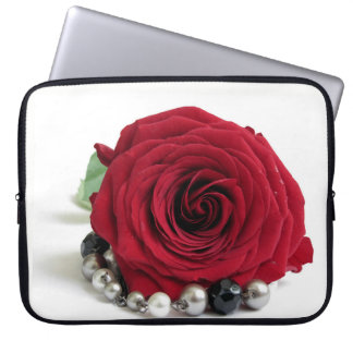 red rose computer sleeves