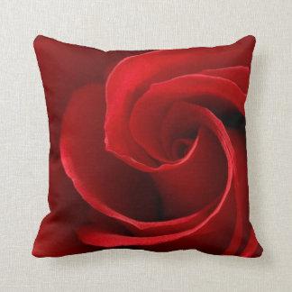 Red Rose Cotton Throw Pillow, Throw Pillow