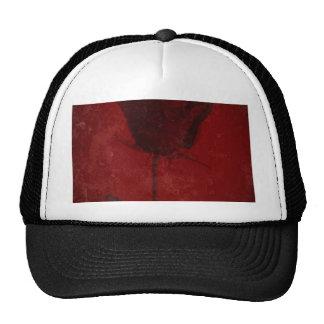 Red Rose Creative Textured Design Trucker Hat