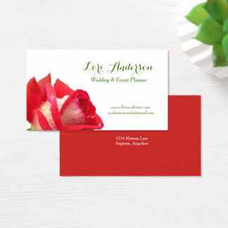 Red Rose Custom Business Card