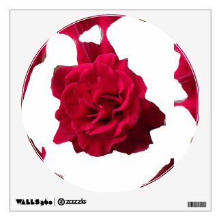 Red rose dark metal style wall sticker