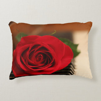 Red Rose Decorative Pillow