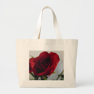 Red Rose Delight Large Tote Bag